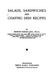 Salads, sandwiches and chafing dish recipes by Marion Harris Neil