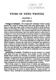 Cover of: Types of news writing by Willard Grosvenor Bleyer