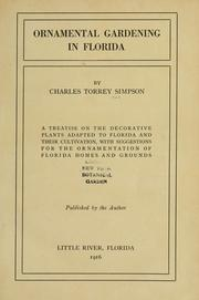 Cover of: Ornamental gardening in Florida | Charles Torrey Simpson