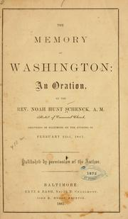 Cover of: The memory of Washington
