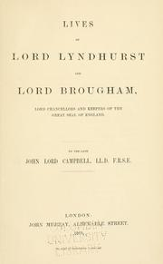 Cover of: Lives of Lord Lyndhurst and Lord Brougham