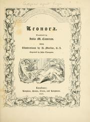 Cover of: Leonora: 1796