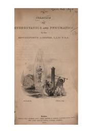 Cover of: Hydrostatics and pneumatics: By the Rev. Dionysius Lardner.