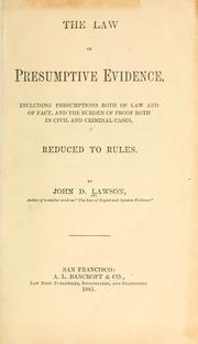 evidence law a study on presumption Presumptions are they evidence presumption is evidence which may be weighed8 by the jury or the law of evidence for the most part was developed during.