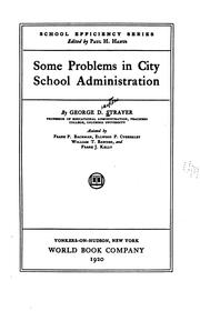 Cover of: Some problems in city school administration
