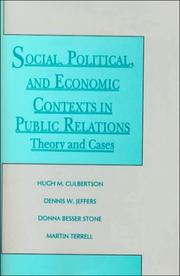 Cover of: Social, Political, and Economic Contexts in Public Relations