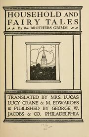 Cover of: Household and fairy tales | Brothers Grimm