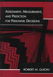Cover of: Assessment, measurement, and prediction for personnel decisions