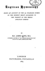 Cover of: Anglican hymnology | King, James vicar of St. Mary