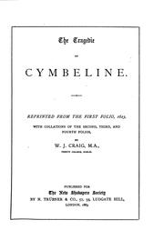 Cover of: The tragedie of Cymbeline by William Shakespeare
