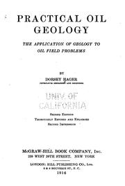 Cover of: Practical oil geology | Hager, Dorsey
