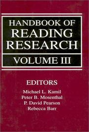 Cover of: Handbook of Reading Research, Volume III (Handbook of Reading Research) |