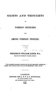 Cover of: Sights and thoughts in foreign churches and among foreign peoples