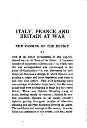 Cover of: Italy, France and Britain at war | H. G. Wells