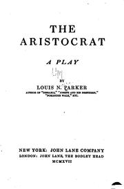 Cover of: The aristocrat