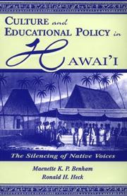 Cover of: Culture and Educational Policy in Hawai'i