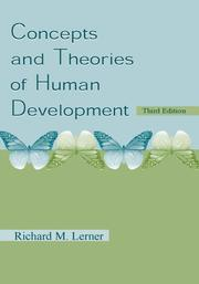 Cover of: Concepts and theories of human development