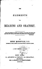Cover of: The elements of reading and oratory
