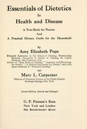 Cover of: Essentials of dietetics in health and disease | Amy Elizabeth Pope