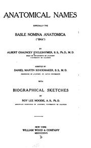 Cover of: Anatomical Names