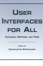 Cover of: User Interfaces for All