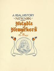 Cover of: A real history of Newark and notable Newarkers | Fleming, Thomas