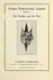 Cover of: Extinct Pennsylvania animals by Henry W. Shoemaker