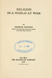 Cover of: Religion in a world at war