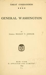 Cover of: General Washington