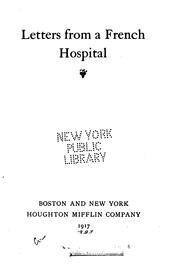Cover of: Letters from a French hospital. |