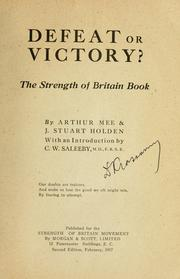 Cover of: Defeat or victory?: the strength of Britain book