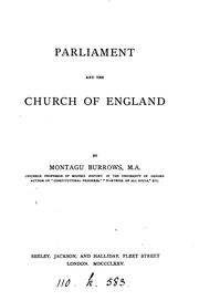 Cover of: Parliament and the Church of England | Montagu Burrows