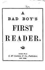 Cover of: A bad boy's first reader