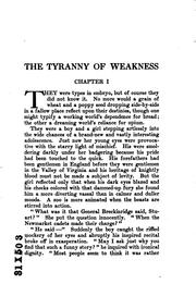 Cover of: tyranny of weakness | Charles Neville Buck