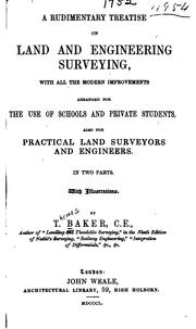 Cover of: A rudimentary treatise on land and engineering surveying
