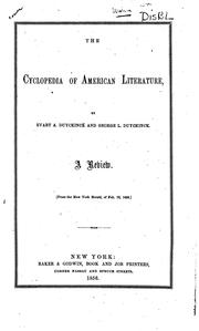 The Cyclopedia of American literature, by Evart A. Duyckinck and George L. Duyckinck by Rufus W. Griswold