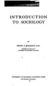 Cover of: Introduction to sociology