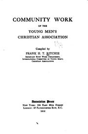 Cover of: Community work of the Young men