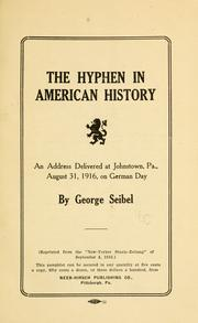 Cover of: The hyphen in American history