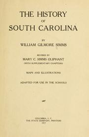 Cover of: The history of South Carolina
