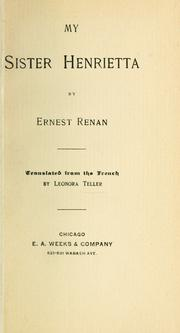 Cover of: Henriette Renan