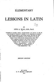 Cover of: Elementary lessons in Latin