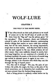 Cover of: Wolf-lure