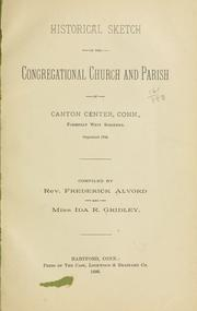 Cover of: Historical sketch of the Congregational church | Frederick Alvord
