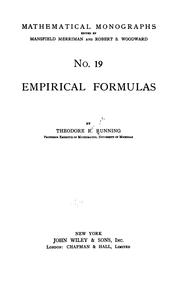 Cover of: Empirical formulas | Theodore R. Running
