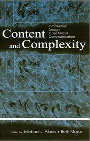 Cover of: Content and Complexity |