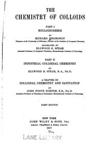 Cover of: The chemistry of colloids. |
