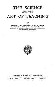 Cover of: The science and the art of teaching