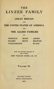 The Lindeseie and Limesi families of Great Britain by John William Linzee