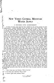 Cover of: Catskill water supply by New York (N.Y.). Board of Water Supply.